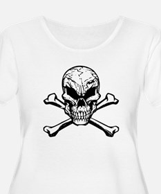 Evil Skull And Crossbones Plus Size T-Shirt