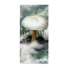 White Magic Mushroom Beach Towel