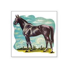 "Heroic Horse Square Sticker 3"" x 3"""