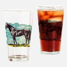 Heroic Horse Drinking Glass