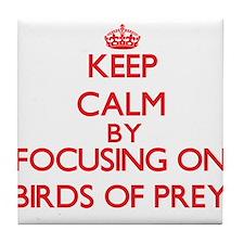 Keep calm by focusing on Birds Of Prey Tile Coaste