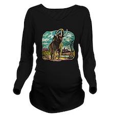 Heroic Elephant Long Sleeve Maternity T-Shirt