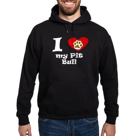 I Heart My Pit Bull Hoodie