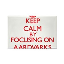 Keep calm by focusing on Aardvarks Magnets