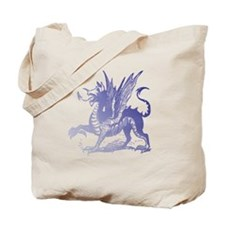 Fiery Purple Dragon Tote Bag