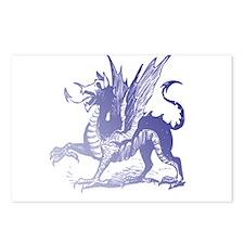 Fiery Purple Dragon Postcards (Package of 8)