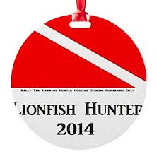 Lionfish Hunter 2014 Round Ornament