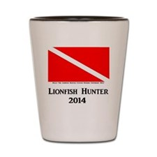 Lionfish Hunter 2014 Shot Glass