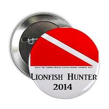 "Lionfish Hunter 2014 2.25"" Button"