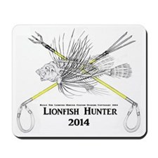 Lionfish Hunter Skeleton 2014 Mousepad