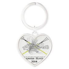 Lionfish Hunter Skeleton 2014 Heart Keychain