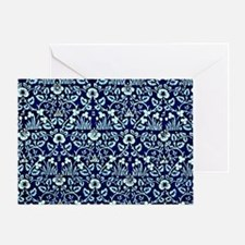 William Morris - Eyebright, blue and Greeting Card