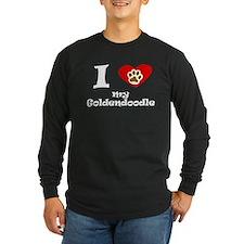I Heart My Goldendoodle Long Sleeve T-Shirt