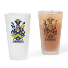 Monahan Family Crest Drinking Glass
