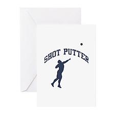 Shot Putter Greeting Cards (Pk of 10)
