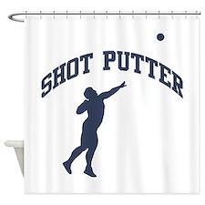Shot Putter Shower Curtain
