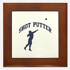 Shot Putter Framed Tile