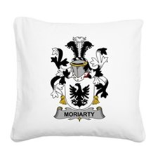 Moriarty Family Crest Square Canvas Pillow