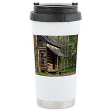 Cabin on Wood Travel Mug