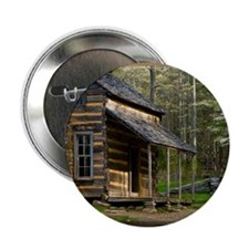 "Cabin on Wood 2.25"" Button"
