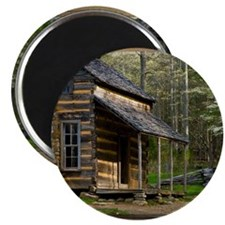 Cabin on Wood Magnet
