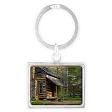 Cabin on Wood Landscape Keychain