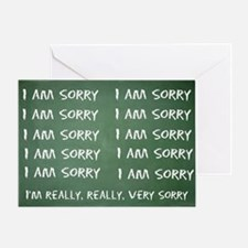 Apologize 10 Times Greeting Card