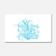 Best Niece - Blue Floral Car Magnet 20 x 12