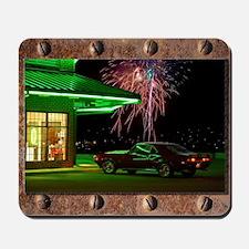 Curb Service camaro 4th of July USA Mousepad