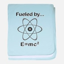 Fueled by E=mc2 baby blanket
