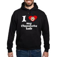I Heart My Chocolate Lab Hoodie