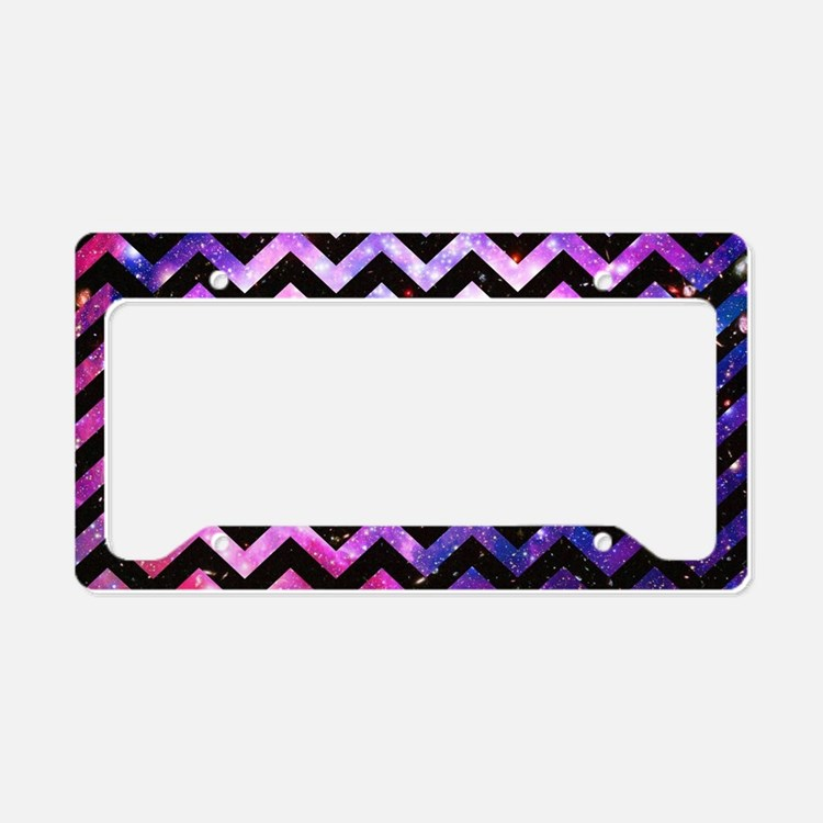 Girly Chevron Pattern Cute Pi License Plate Holder