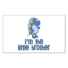 i'm the little brother dinosaur Sticker (Rectangul