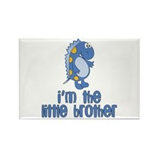 i'm the little brother dinosaur Rectangle Magnet