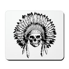 Native American Skull Mousepad