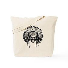 Native American Skull Tote Bag