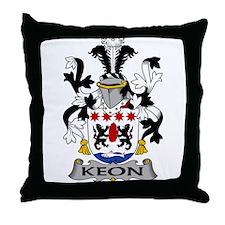 Keon Family Crest Throw Pillow