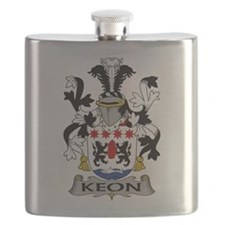 Keon Family Crest Flask