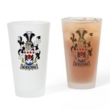 Keon Family Crest Drinking Glass