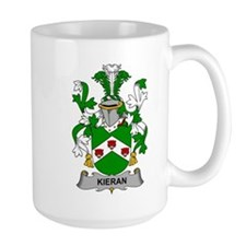 Kieran Family Crest Mugs