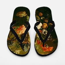 Jan van Huysum - Vase of Flowers Flip Flops