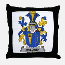 Maloney Family Crest Throw Pillow