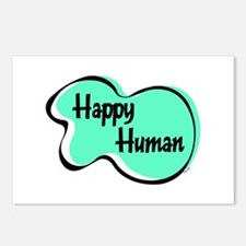 HAPPY HUMAN Postcards (Package of 8)