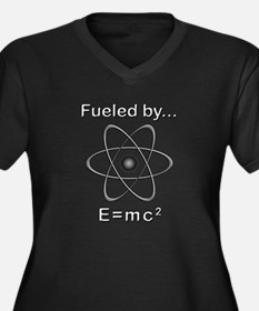 Fueled by E= Women's Plus Size V-Neck Dark T-Shirt
