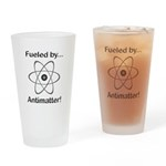 Fueled by Antimatter Drinking Glass