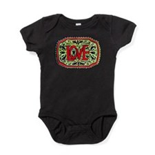 Hand Painted Love Baby Bodysuit
