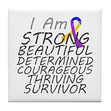 Bladder Cancer Strong Survivor Tile Coaster