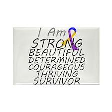 Bladder Cancer Strong Survivor Rectangle Magnet
