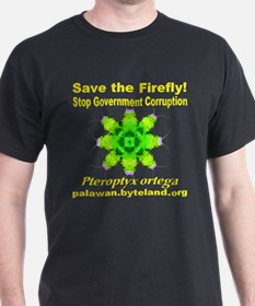 Save The Firefly Stop Government Corruption T-Shir