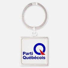 Parti Quebecois Square Keychain